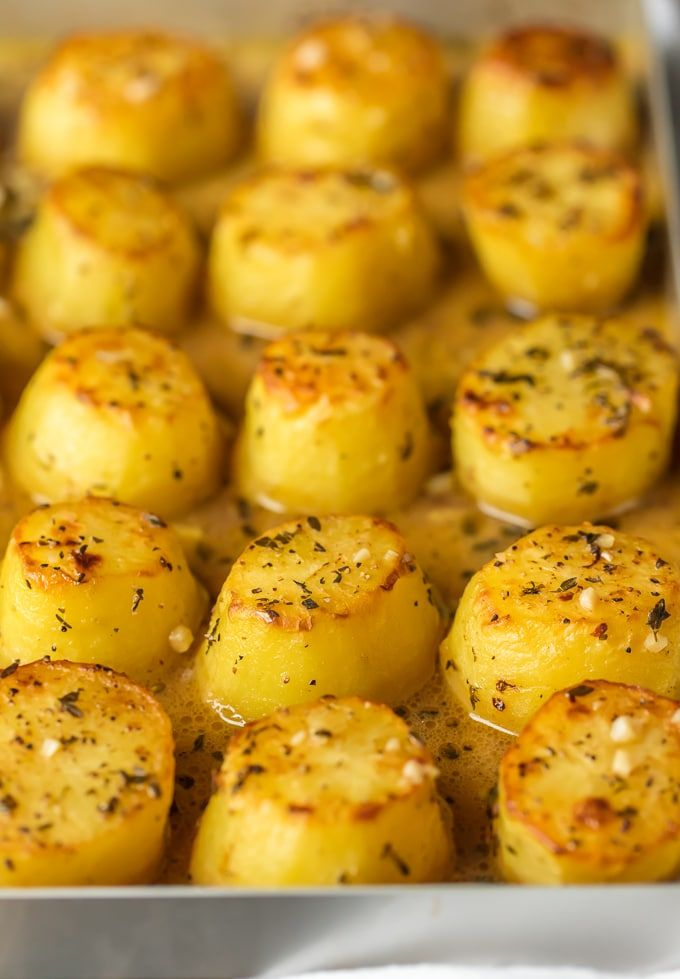 Melting Potatoes have crusty, crunchy edges and rich and creamy insides surrounded by an herby, buttery, savory sauce. They are easy and always get rave reviews. Melting Potatoes fit right in at any family meal or served on a silver platter at an elegant dinner party. Enjoy!