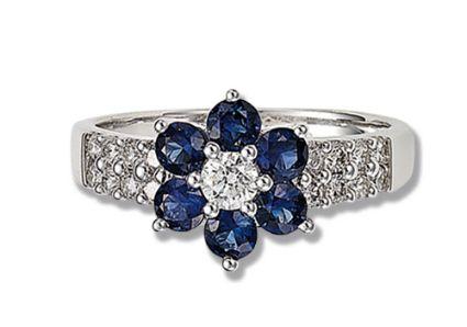 Hermosa flor de diamantes