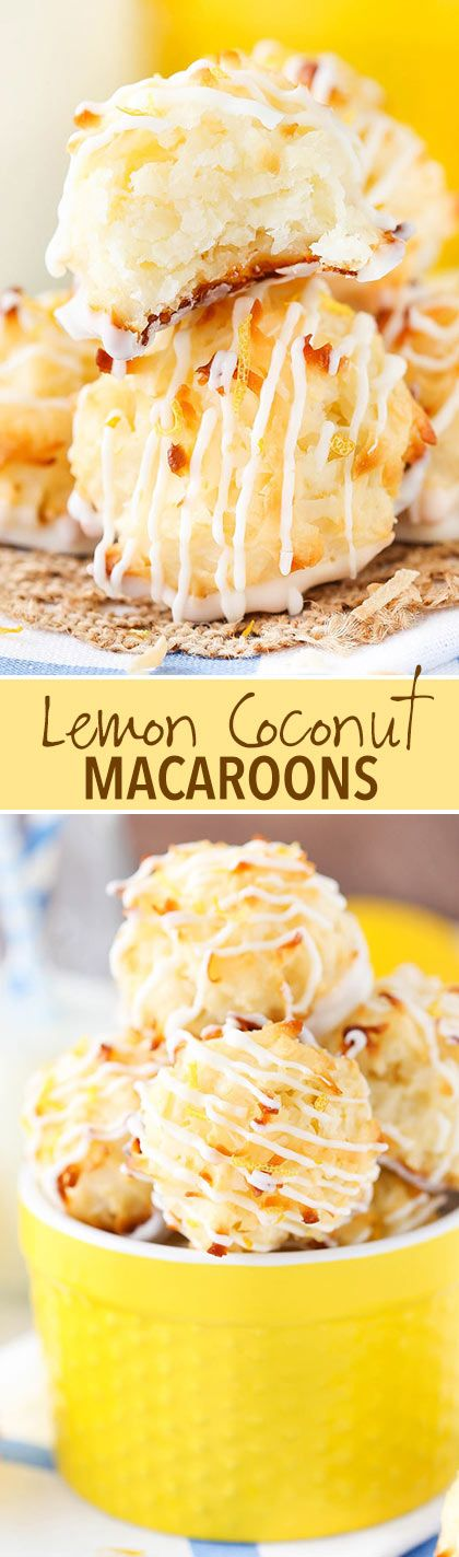 These Lemon Coconut Macaroons are so yummy with their light lemon flavor, soft and chewy coconut and white chocolate bottoms! You'll want to eat them all! So the other day I was working a video in my office, which means I'm carrying ingredients back and forth between the kitchen and the office. All that carrying …