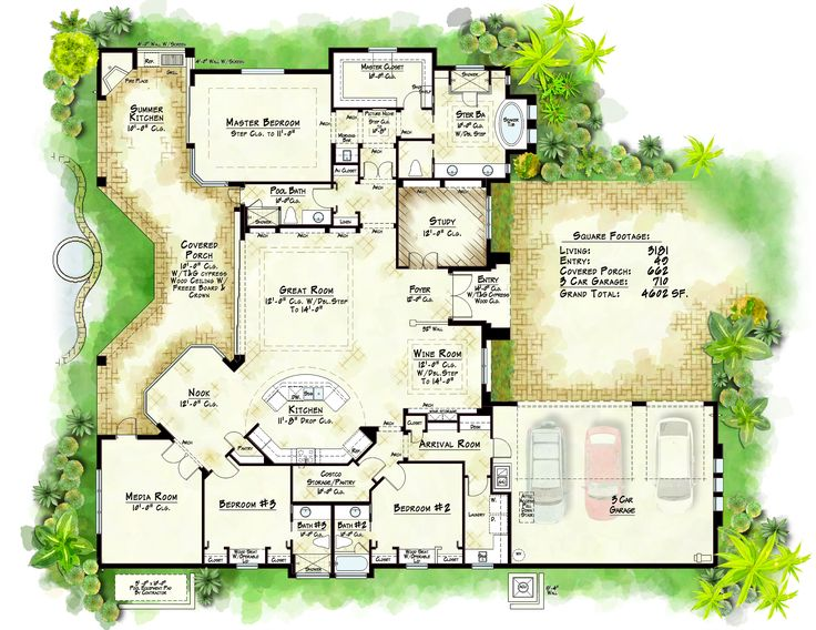 Another great plan christopher burton homes www for Custom home plans florida