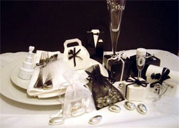 Black and White Chic Wedding Favour Collection