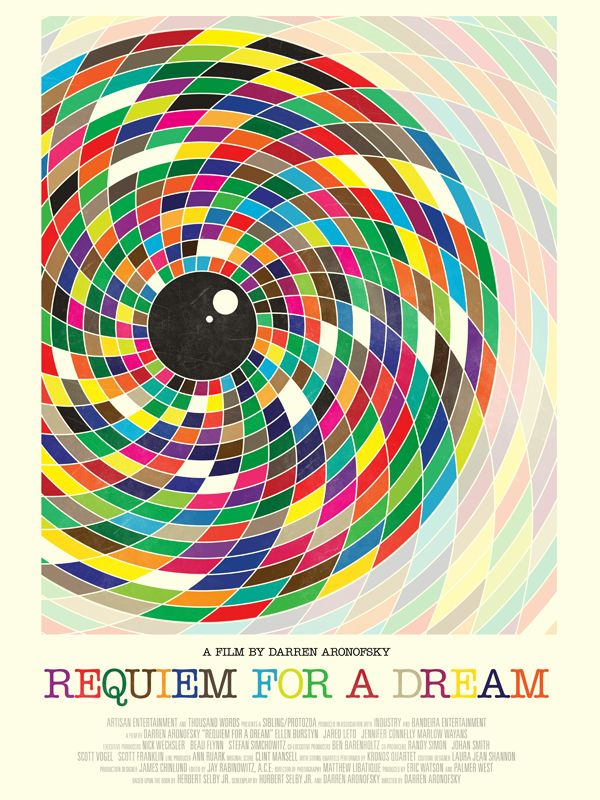 Movie poster for 'Requiem for a Dream' by Simon C. Page,