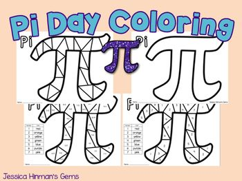 Pi Day Coloring