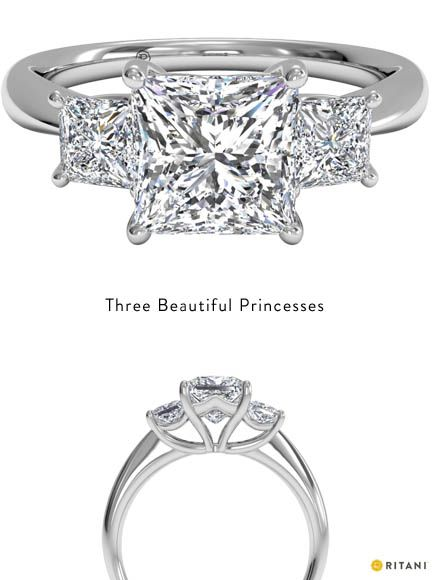 Best 20 Princess cut rings ideas on Pinterest