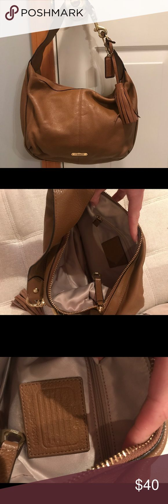 Cognac Leather Coach Satchel Cognac Leather Coach purse has been used but in good contrition. Great fall bag ! Coach Bags