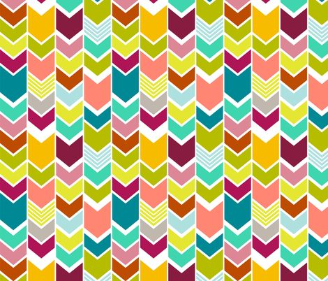 LOVE this site for funky chevrons, ikats Mod Multicolor Chevron fabric by mrshervi on Spoonflower - custom fabric