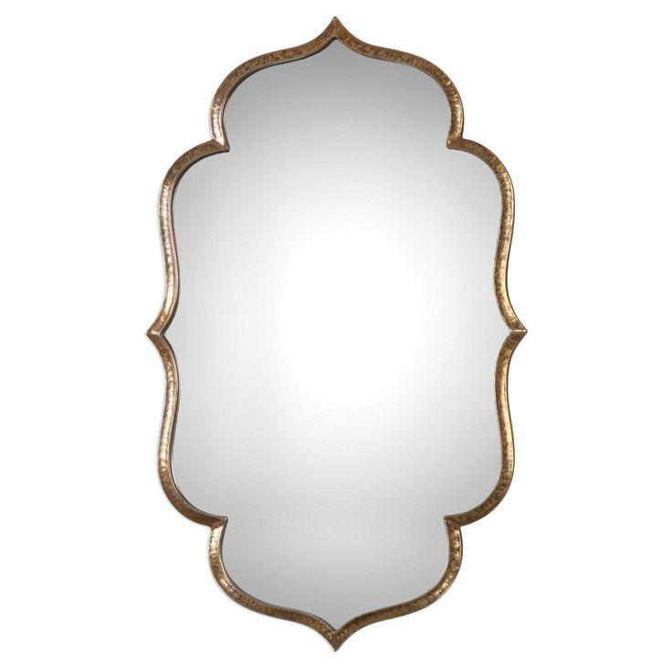 Uttermost Zina Quatrefoil Gold Wall Mirror - 9206