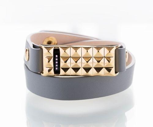 Fitbit Flex Stud Bracelet Gray Gold