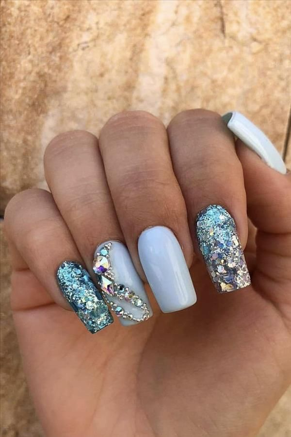 Seven Inspirational Blue Nail Art Collections The Stylish Girl You Must Try Fashion Girl S Blog In 2020 Blue Nail Art Blue Nails Stylish Girl