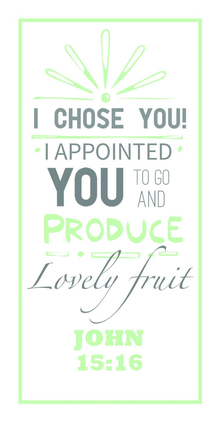 John 15:16 | I chose you