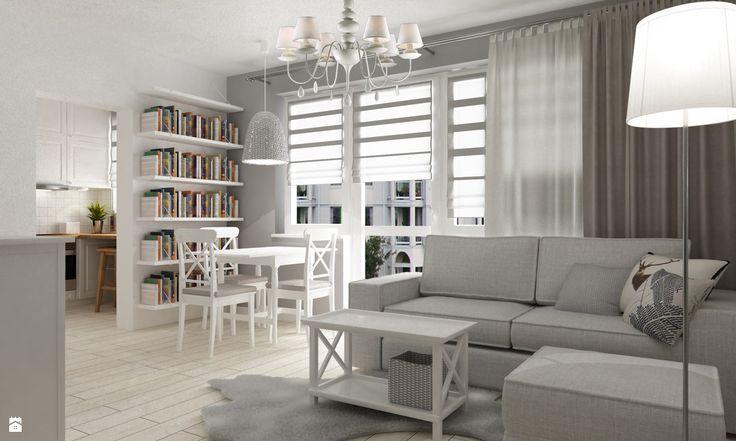 Salon styl Prowansalski - zdjęcie od Grafika i Projekt architektura wnętrz - Salon - Styl Prowansalski - Grafika i Projekt  architektura wnętrz