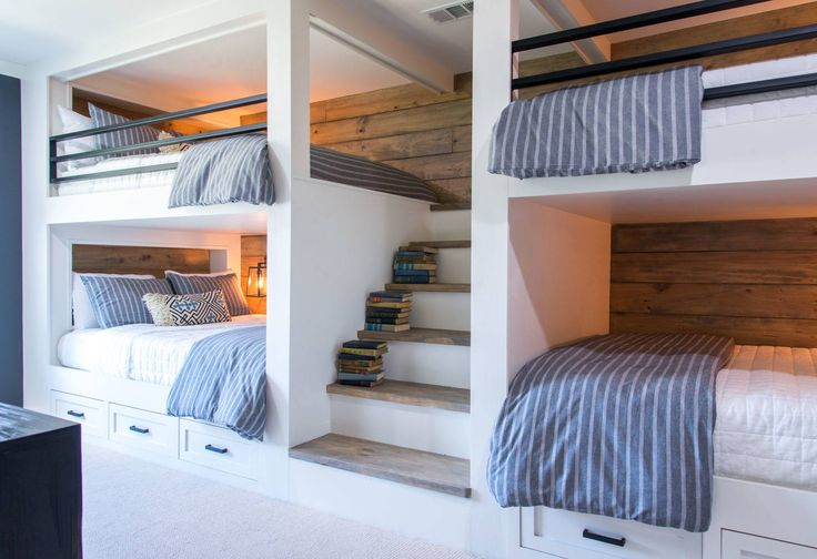 The Eberle bunk room made a perfect spot for this family's kids and extended family to stay when visiting.