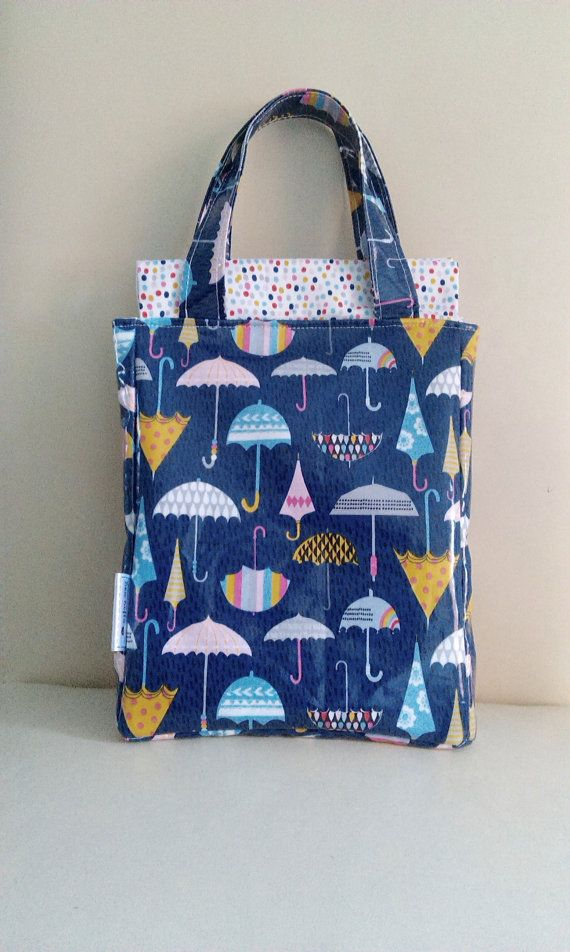 Weather Girl Lunch Bag // Insulated Wipe Clean Lunch by SewSofia