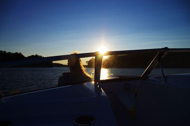 '12 Mile Lake sunset'  Haliburton, Ontario.