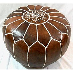 Leather Contemporary II Ottoman (Morocco) | Overstock.com Shopping - The Best Deals on Ottomans