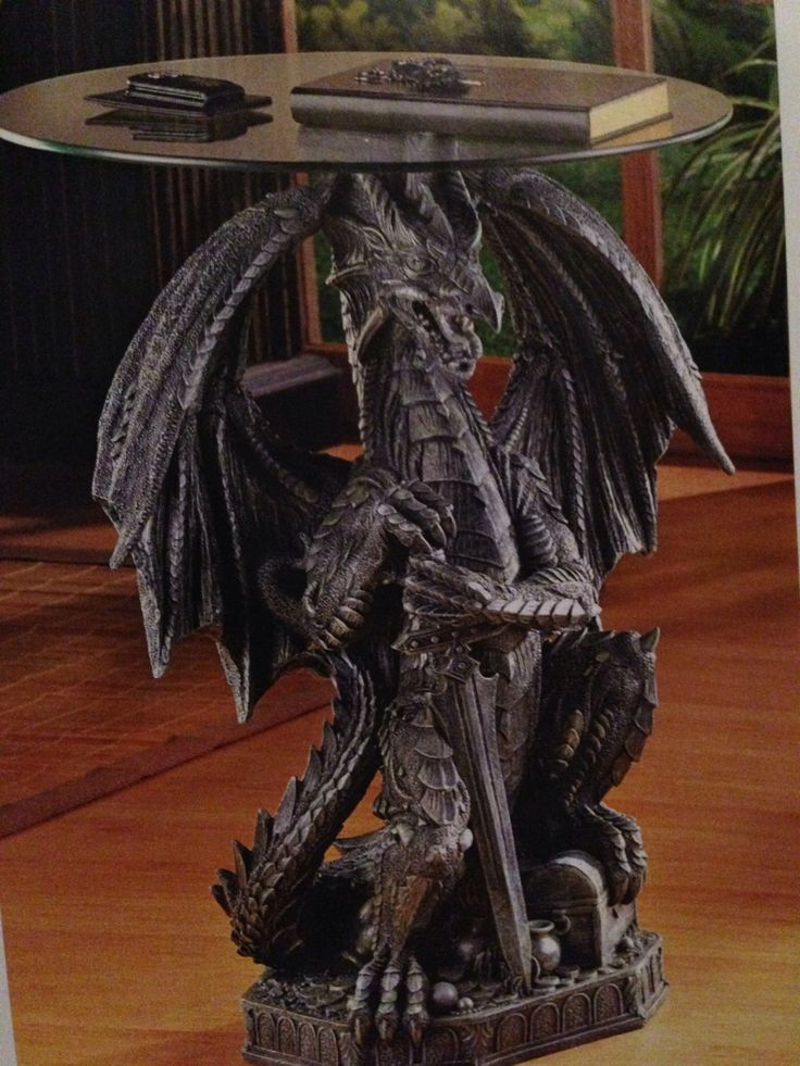 $119.95.....Guarding Dragon Accent Table