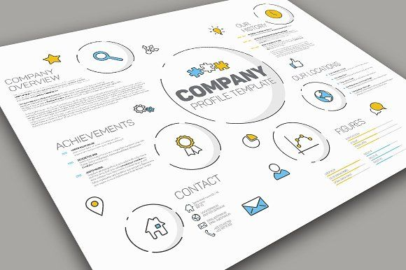 Modern Company Profile Template by Orson on @creativemarket