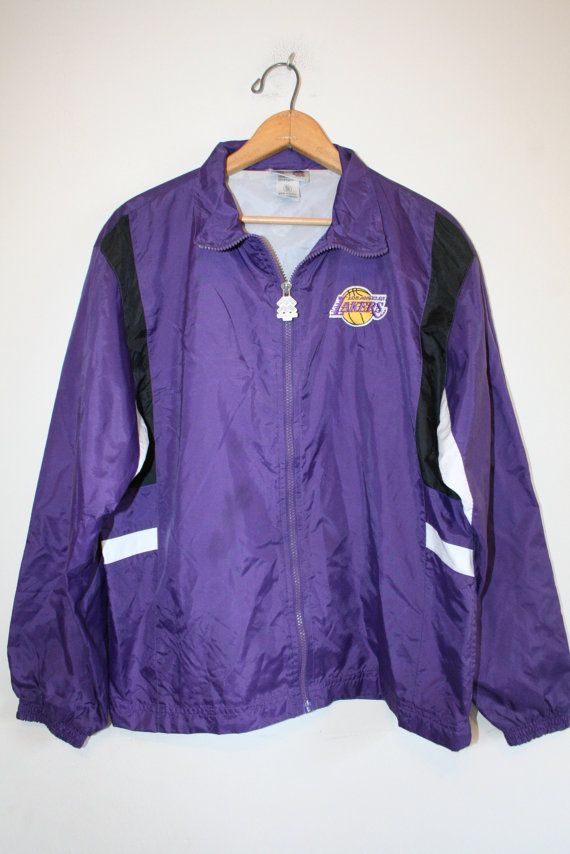 L.A. LAKERS JACKET // size medium // 90s // by GUTTERSHOP on Etsy