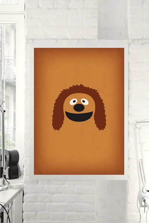 The muppet show rowlf minimalist poster retro style for 1950s minimalist house