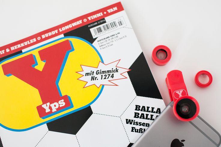 In der neuen Yps-Ausgabe gibt es ein Fotolinsen-Gimmick. Guten Morgen! Bevor Ihr heute alle zum Kiosk rennt um Euch das neue Yps-Heft mit dem Fotolinsen-Gimmick zu schnappen, schaut erst mal hier rein, damit Ihr nicht allzu enttäuscht seid! #Yps #Gimmick #Fotolinsen #Wechselobjektive #Ypsheft