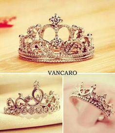 Resultado de imagen para anillos de 15 años en forma de corona
