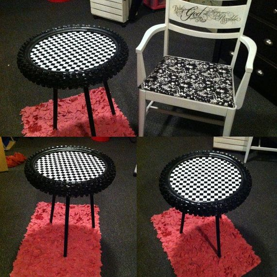 Dirtbike tire table by BMPRODUCTS on Etsy, $30.00