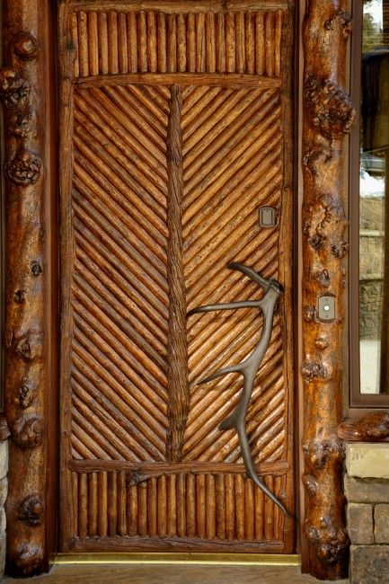 Custom elk antler entry pull for a residence in Jackson Hole Wyoming. & 44 best Extraordinary Doors images on Pinterest Pezcame.Com
