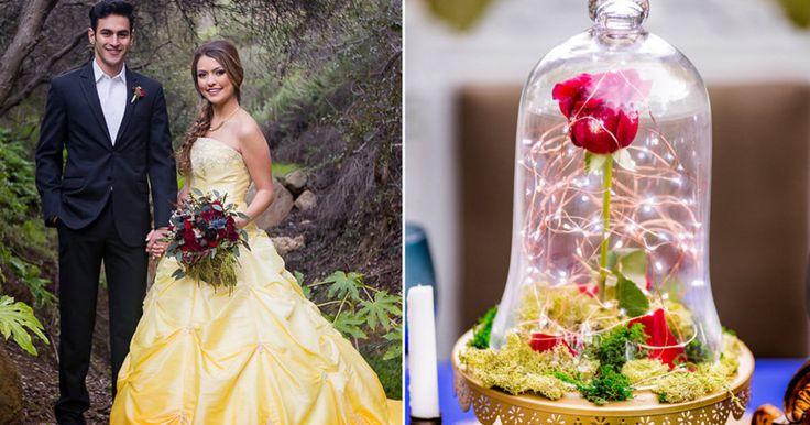 Vas a quedar hechizado por estas fotos de boda inspiradas en 'La Bella y la Bestia'