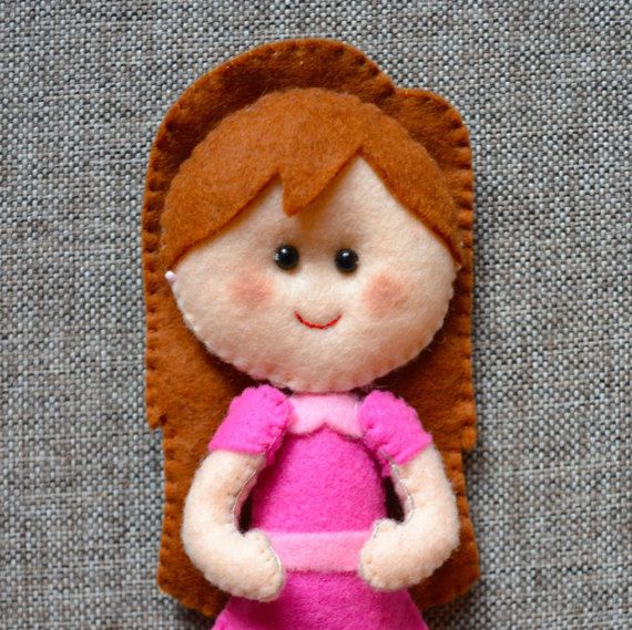Masha doll rag-doll felt toys Felt doll gift for by Feltamour