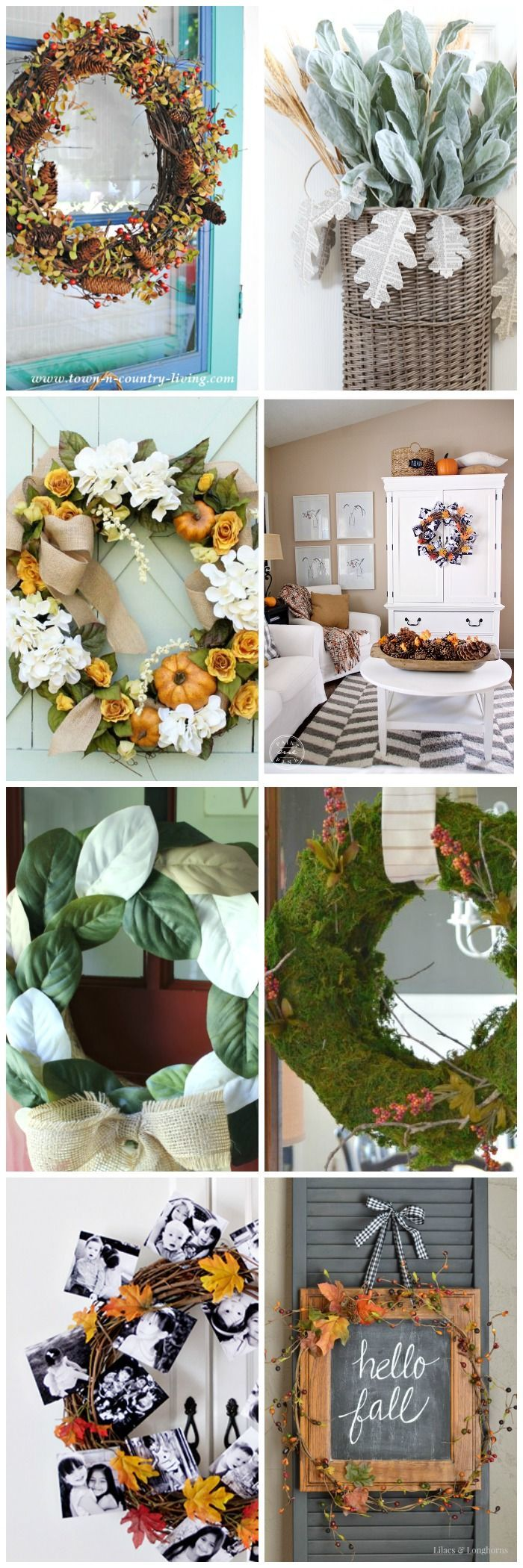 Diy kitchen decor crafts - 7 Fabulous Fall Wreaths To Diy