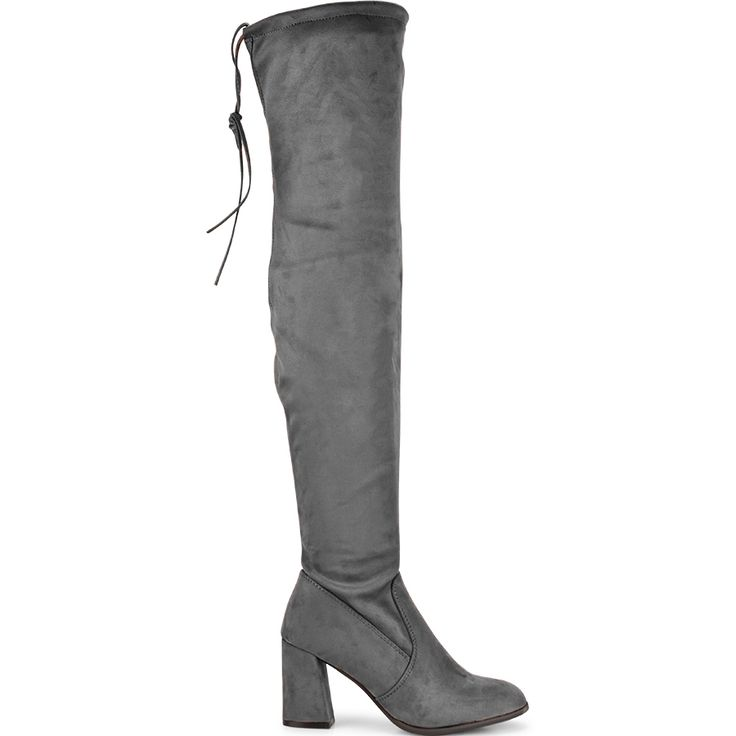 Grey suede over the knee boot Lets Walk JN77-02