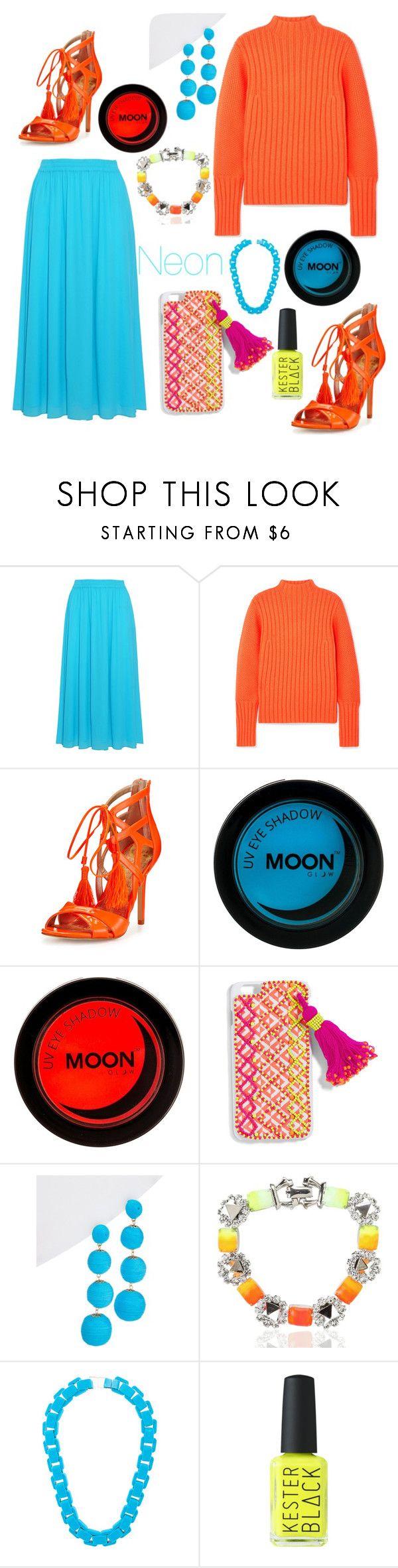 """Neon"" by daisy-schilder ❤ liked on Polyvore featuring Emilio Pucci, Victoria, Victoria Beckham, Sam Edelman, BaubleBar, Kenneth Jay Lane, Tom Binns, Wanda Nylon and neon"