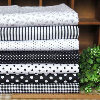 28$ 14 Pcs 7 Designs Cotton Fabric Black & White Series 45x45cm
