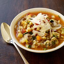 Italian-Inspired Vegetable Barley Soup:  This was SO good and filling.  Made lots of extras and took for lunch.