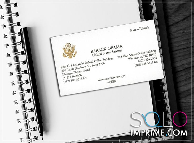 Tarjeta de Presentación, Originales, famosos, Business Card, Barack Obama