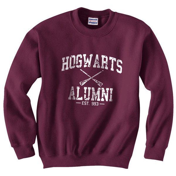 Harry Potter Hogwarts Alumni est 993 Size SMLXLXXLXXXL Crewneck... ($24) ❤ liked on Polyvore