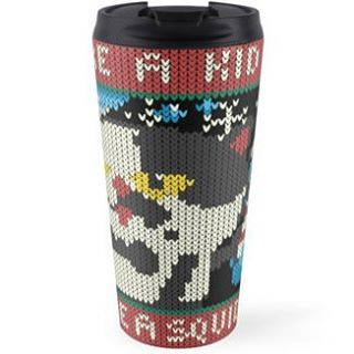 When you get cold during winter you can drink something hot and fresh from this wonderful #travelmug  Get it here http://rdbl.Co/1MuMe1r or follow link in Bio!  #Nintendo #splatoon #Judd #stayfresh #knitted #videogames #cute #gift #inkopolis