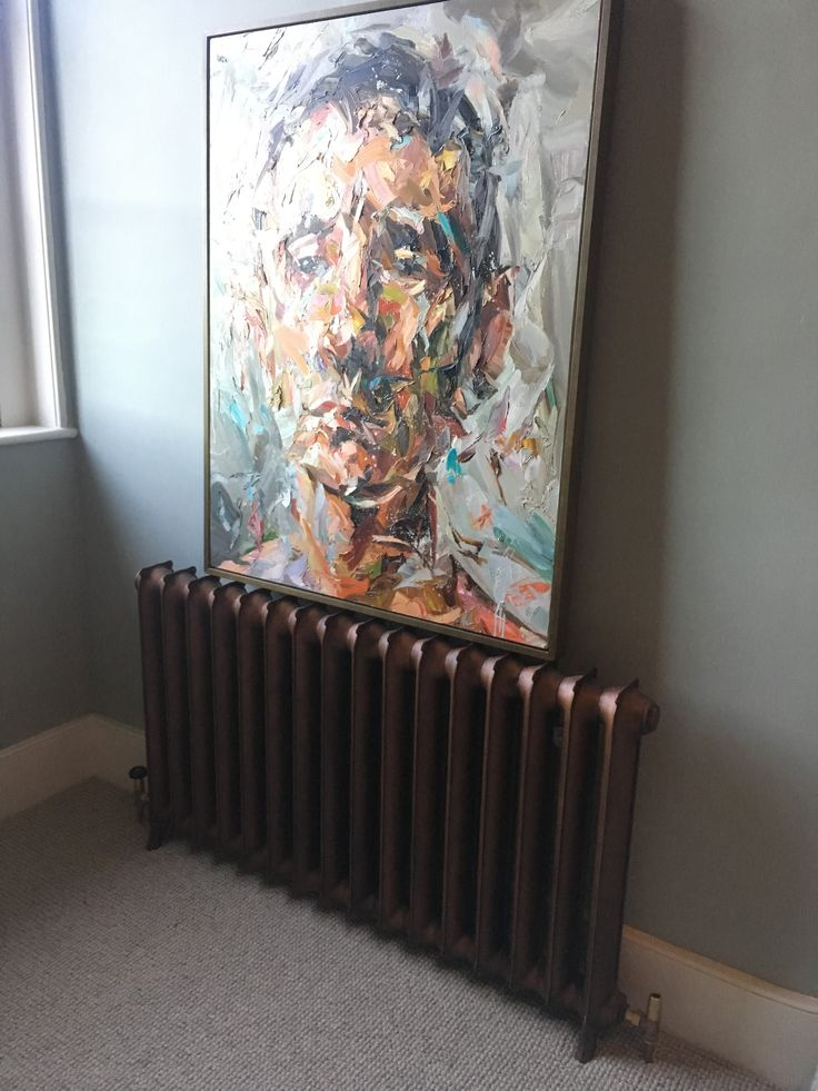 Sloane 750mm Cast Iron Radiator in Antiqued Copper Paint Effect