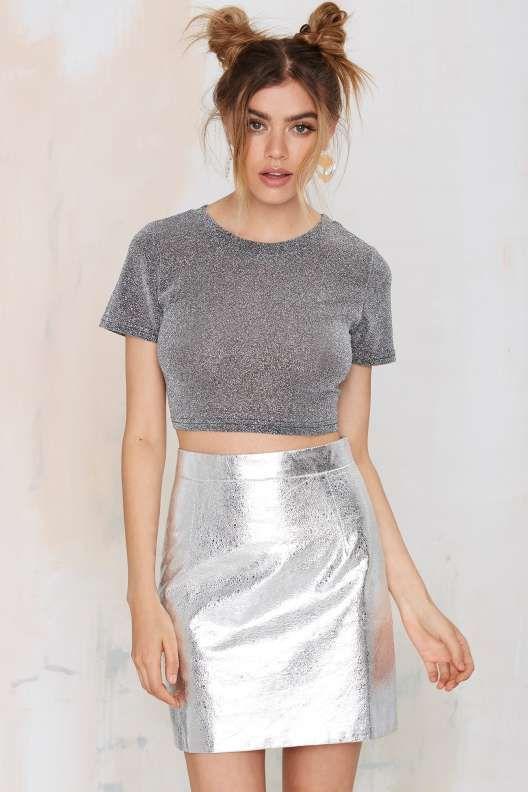 Space Cowgirl Metallic Skirt
