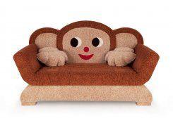 Детский диван-игрушка Чебурашка описание, фото, выбор ткани или обивки, цены, характеристики