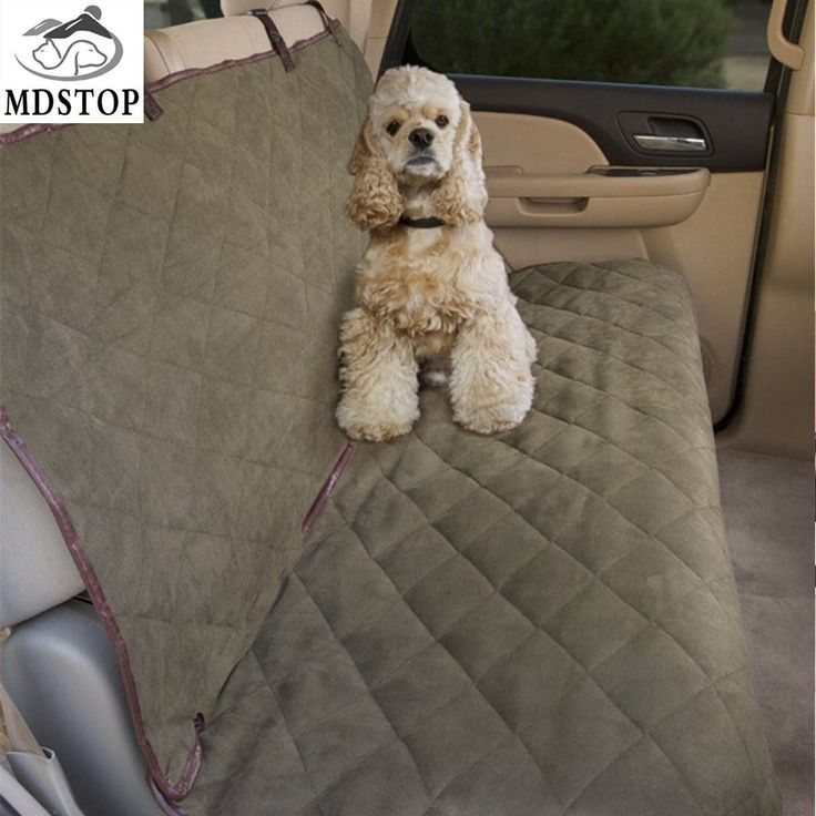MDSTOP Soft Suede Pet Dog Car Back Seat Cover Rear Bench Seat Waterproof  SUV Vehicles Car Non-Slip Seat Protector for Dogs