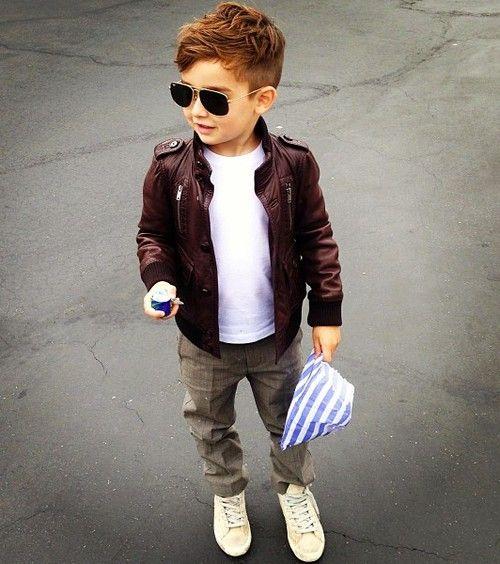 Loving little boy leather jackets.. cute!