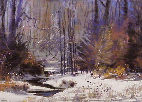 winter retreat by Tom Christopher Pastel ~ 18 x 24
