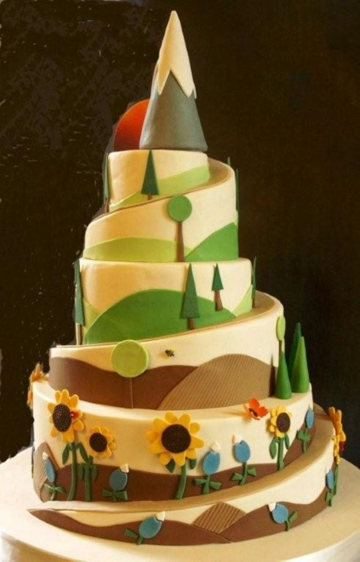 Hiking Theme Cake on Cake Central | Wedding Cake ...