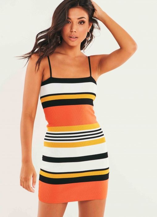 Minoh Dress - Orange Stripe