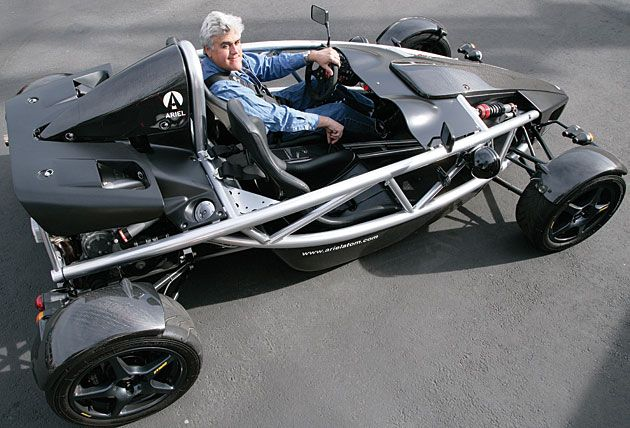 Jay Leno in the Ariel Atom --British Steel