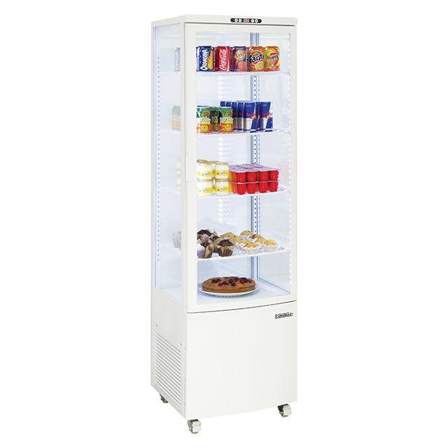 Casselin Vitrine Refrigeree A Poser 235l Blanc Cvr235lb Refrigerateur Table Top Frigo Encastrable Vitrine Refrigeree