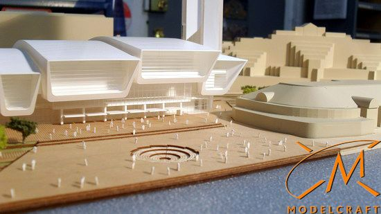 1:750 White Architectural Model by Modelcraft (NSW) Pty Ltd