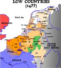 17 Provinces of the Netherlands prior to the Dutch Rebellion