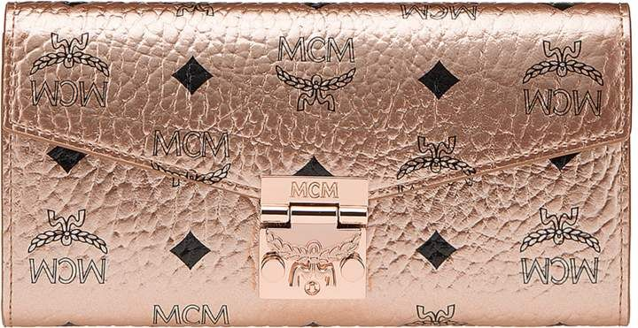 Mcm MCM Patricia Crossbody Wallet Visetos Large Champagne